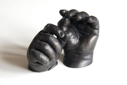 8 week old boy's hands