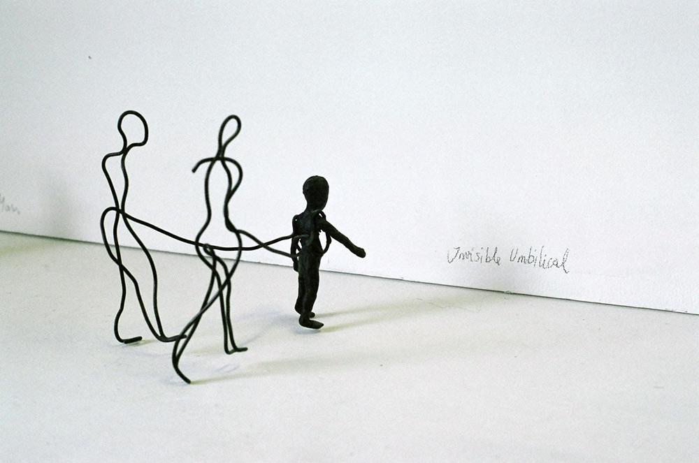 Invisible Umbilical sculpture
