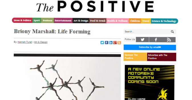 Screenshot of The Positive online article top