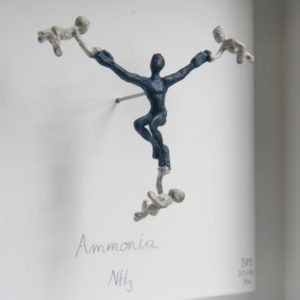 Ammonia - framed bronze sculpture - detail