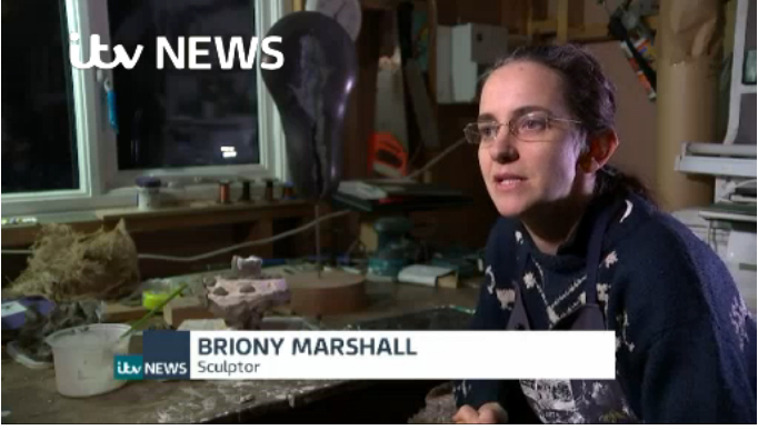 Briony Marshall talking on ITV News at 10