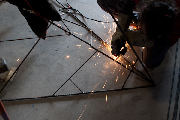 Cutting and welding the tretrahedral armature