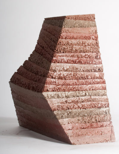 Disruption - a rammed earth sculpture by Briony Marshall