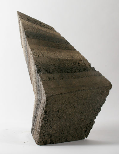 Cline Limb- a rammed earth sculpture by Briony Marshall