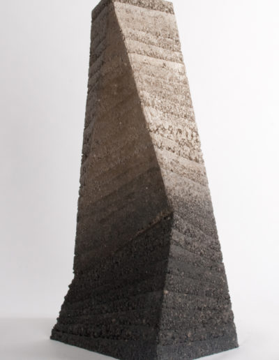 Earthtime - a rammed earth sculpture by Briony Marshall